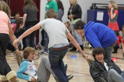 Grade 9 Gym Riot